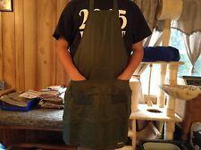 "Two pocket full size 30"" x 34"" hunter green apron"