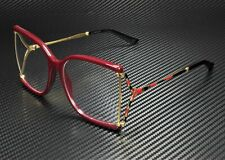 GUCCI GG0592O 003 Square Red Red Gold Demo Lens 60 mm Women's Eyeglasses