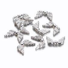 50 BULK Beads Silver Angel Wing Beads Spacer Beads 18mm Wholesale Beads