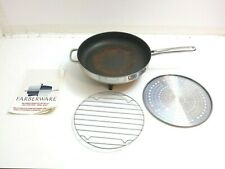 VINTAGE FARBERWARE B3022 FRY PAN ELECTRIC SKILLET BASE ONLY WITH RACK