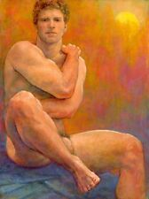 Ron Griswold- 'Of the Mountain' signed Male Nude Art Painting Print