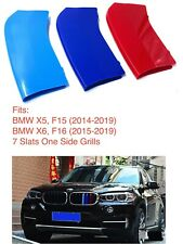 NEW M POWER LOGO KIDNEY GRILL 3D 3 COLOUR COVER ABS STRIPS BMW X5 F15 X6 F16 BMW