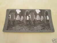 WW1 STEREOVIEW - INSPECTING RUINS OF THE ONCE BEAUTIFUL RICHEBOURG CATHEDRAL