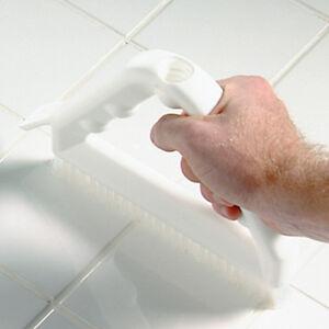 "Tile & Grout Brush With Nylon Bristles 8"" - White"