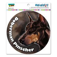 "Red Doberman Pinscher - Dog - Pet Circle - Mag-Neato'Sâ""¢ Car Vinyl Magnet"