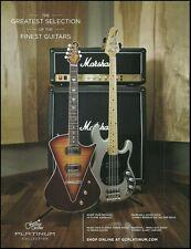 The Music Man Armada & Sabre Bass Guitar Marshall Amp ad 8 x 11 advertisement