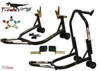T-Rex Racing Black Front & Rear & Triple Tree Motorcycle Stand V Universal