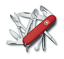 Victorinox DELUXE TINKER / Swiss Army Knife W/ Leather Clip Pouch - SWITZERLAND