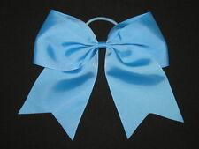 "NEW ""TEAL BLUE"" Cheer Bow Pony Tail 3 Inch Ribbon Girls Hair Bows Cheerleading"