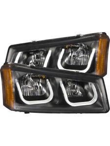 ANZO 2003-2006 For Chevrolet Silverado 1500 Projector Headlights w/ U-B…(111312)