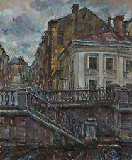 MIDDLE PODYACHESKAYA STREET Original oil by Leonid STROGANOV, RUSSIAN Artist
