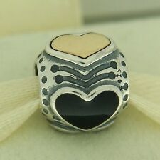 Authentic Pandora 790591EN16 Black Friday Midnight Heart 14K Gold Bead Charm