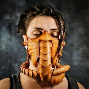 Scorpion Alien Synthetic Leather Face Mask For Costume Cosplay Props Facehugger