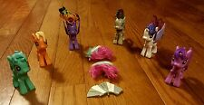 My Little Pony Lot Ponies Posable Poppables Wings Tails Pink Purple Interchange