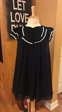 TOKYO FASHION Little Black Dress with Ruffle Cap Sleeves- SMALL- FREE SHIPPING