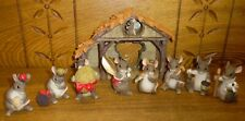 New listing Partial Charming Tails Mouse Nativity Set