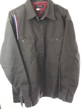 Vintage Tommy Hilfiger Jeans Button Up Shirt Large 90s Hip Hop Spellout