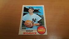 1968 Topps Baseball Card #431 Dooley Womack NM *1609
