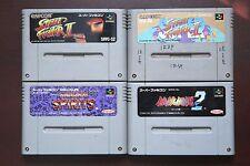 Super Famicom Sfc Super Street Fighter Fatal Fury 2 Samurai Spirits Japan games