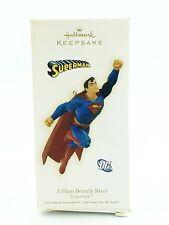 Hallmark Superman Ornament 2009 A Hero Bravely Rises Flying Cape Super Man A