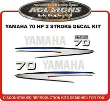 2002 - 2006 YAMAHA 70 HP Two Stroke Outboard Decal Kit  reproductions  90 hp
