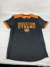 Major League Soccer MLS HOUSTON DYNAMO Black/Orange Team Jersey sz L