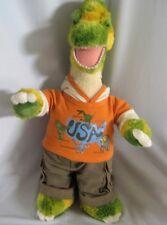 "Build A Bear Brachiosaurus Dinosaur Green Yellow Plush 20"" Roars Dino Clothes"