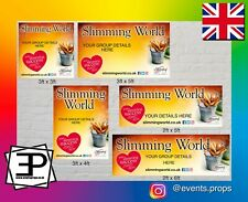 PERSONALISED SLIMMING WORLD ADVERTISING PVC VINYL OUTDOOR BANNERS VARIOUS SIZES