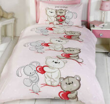 Teddy Bear Love Single Bedding with FREE Wall Stickers