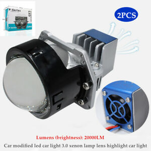 2PCS 9V-36V LED Bifocal Lens Car Modified 3.0 Xenon Lamp High Power Headlight