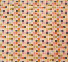 Born Wild BTY Ana Davis Blend Fabrics Pink Green Brown Gray Tiny Block Plaid