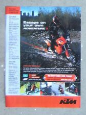KTM 950 ADVENTURE 2005 Motorcycle Magazine Page Sales Ad Advertisement Brochure