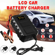 20A 12V Car Battery Charger Intelligent LCD Lead Acid Auto Car Motorcycle C1O8