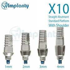 10 Straight Abutment Standard Platform With Shoulder Dental Implant Internal Hex