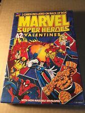 1996 MARVEL SUPER HEROES Valentine's cards 42 Valentines sealed box *MIB.