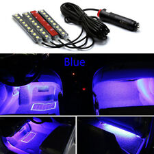 4x Blue 9 LED Charge Car Interior Accessories Foot Car Decorative Light Lamps