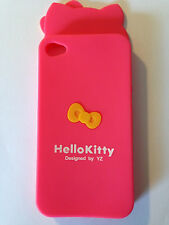 Bow Hello Kitty Soft Silicone Rubber Case Cover For Apple iphone 4 4s Cute Case