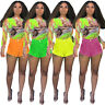 Fashion Women Ripped Hole Button Bodycon Solid Casual Short Jeans Denim Pants