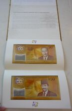 2017 Brunei & Singapore 50th Commemorative $50 Polymer Banknote UNC with Album