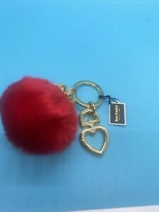 New! Authentic Juicy Couture Key Fob Red Puff Crown
