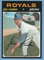 1971 Topps #730 JIM ROOKER high hi number KANSAS CITY ROYALS JVB