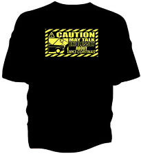 'Caution' classic car t-shirt - 'May Talk Endlessly About...Ford Cortina Mk3