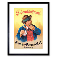 Advertisement German Moustache Schmalzlerfranzl Snuff Framed Wall Art Print