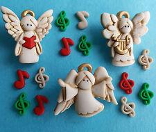 Un coro di angeli di natale NOTE MUSICALI dress It Up Bottoni Craft Abbellimenti