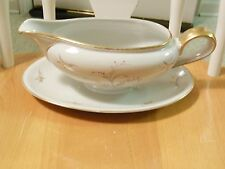 VINTAGE WINTERLING  PORCELAIN FINE FORMAL ELEGANT CHINA GRAVY BOAT &UNDERPLATE