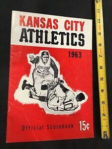 1963 Boston Red Sox Yastrzemski v Kansas City A's Scorecard Program