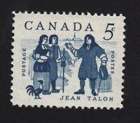 1962 = JEAN TALON & COLONISTS = VF MNH #398 Canada q08