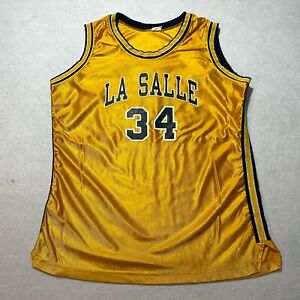 Vintage Champion La Salle Basketball Jersey Womens Size 24 Large Made In Usa 80s