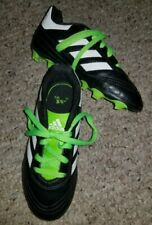 ADIDAS Black and Green Soccer Cleats Youth Size 12 Worn Once