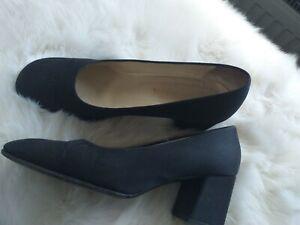 PRADA Pumps Gr. EUR 9 Schwarz Damen Schuhe mit Blockabsatz 6,5 cm